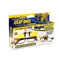Антибликовые насадки на очки Night View Clip Ons