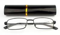 """Очки лекторы крупные """"ручка"""" в футляре (черные)"""