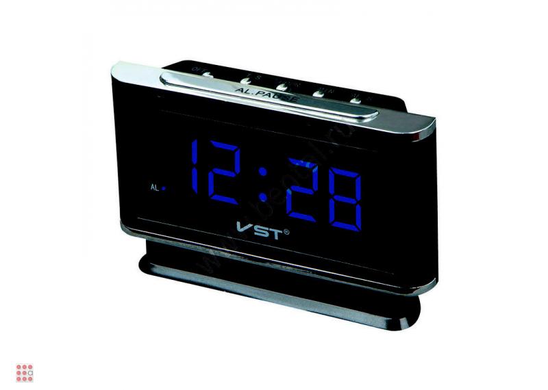 Часы настольные VST 721-5 синие цифры