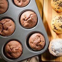 Форма металлическая для выпечки кексов, булочек 6 ячеек