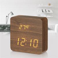 Электронные часы в деревянном корпусе VST-872-5 синие цифры