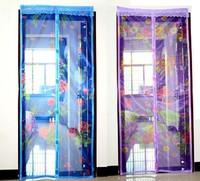 Москитная сетка с вшитыми магнитами и вставками, с рисунком 110х210см