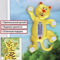 Термометр оконный Кот