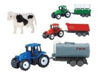 Игрушечный трактор Farm World с прицепами и животными