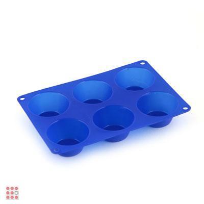 Форма силиконовая для булочек, 6 ячеек
