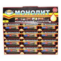 """Суперклей универсальный """"Монолит"""" (3гр.), 12 шт"""