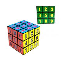 Кубик Рубика с цифрами и буквами 3х3х3, большой