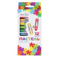 Восковые карандаши, масляная пастель, 12 цветов