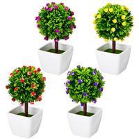 Цветок декоративный в горшке 18,5х10х10 см