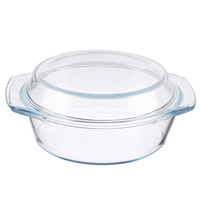 Кастрюля из жаропрочного стекла с крышкой, 1,4 л