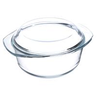 Кастрюля из жаропрочного стекла с крышкой, 2,5 л