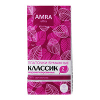 Носовые платочки AMRA двухслойные, 10шт
