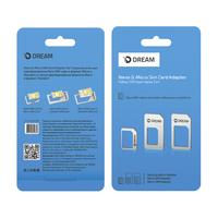 Адаптер симкарт (нано, микро и стандарт) 3 в 1 Dream