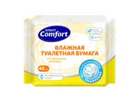 Влажная туалетная бумага Comfort smart с экстрактом Ромашки, 42шт