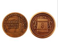 Монета 1 МИЛЛИОН ДОЛЛАРОВ d30мм