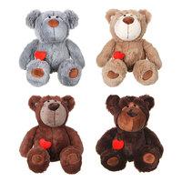 """Мягкая игрушка """"Медведь"""" с сердечком в кармашке 39см"""