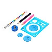 Набор для рисования (спирограф, 2 карандаша, точилка, ручка)