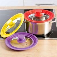 Многоразмерная крышка для посуды, Силиконовый ободок
