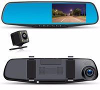 Автомобильный видеорегистратор в зеркале заднего вида (2 камеры) DV170