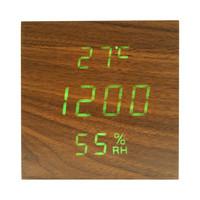 Настольные часы-подставка VST-878S-4, зеленые цифры