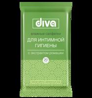 DIVA intimate для интимной гигиены с экстрактом ромашки 20