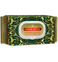 Влажные салфетки очищающие универсальные Fresh Royal, 120шт