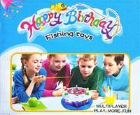 """Музыкальная рыбалка в виде торта """"Happy Birthday"""""""