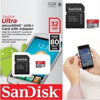 Карта памяти micro SDXC 32Gb SanDisk Ultra + адаптер SD