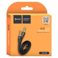 Аудиокабель AUX Dream JD40, плоский
