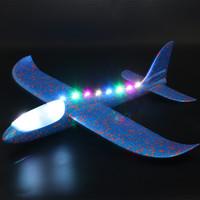 Самолет из пенопласта с LED лентой, 35 см