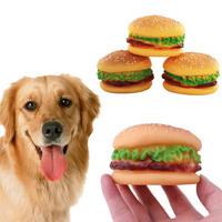 Игрушка-пищалка для собак Гамбургер