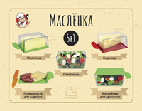 Масленка для кухни 5 в 1