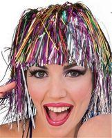 Разноцветный парик из мишуры